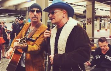 U2 s'invite incognito dans le métro new-yorkais !