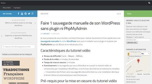 WP Tutoriel vous montre comment faire une sauvegarde manuelle de votre WordPress par export des fichiers.