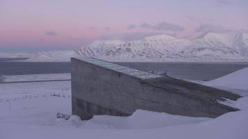 Une chambre forte pour des graines en Norvège